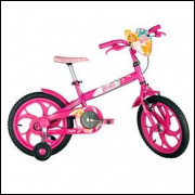 Bicicleta Barbie Aro 16 Infantil Menina Rosa Rodinhas Caloi